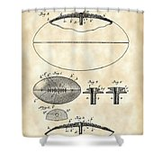 Football Patent 1902 - Vintage Shower Curtain