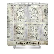 Football Patent History Shower Curtain
