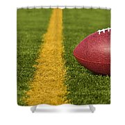 Football Short Of The Goal Line Close Shower Curtain