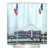Footbridge Bassin Du Commerce 1 Shower Curtain