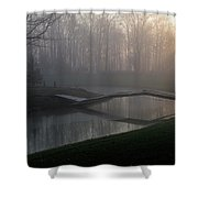 Footbridge Shower Curtain