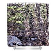 Footbridge In The Spring Shower Curtain