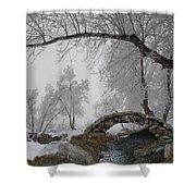 Footbridge Over The Creek Shower Curtain