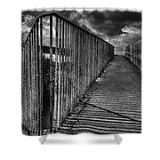Footbridge Railings Shower Curtain