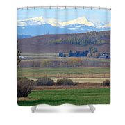 Foothills Farm Shower Curtain