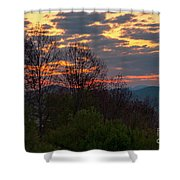Foothills Parkway Dawn Shower Curtain