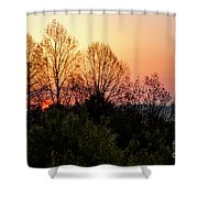 Foothills Parkway Sunrise Shower Curtain