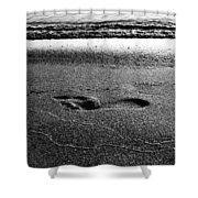 Footprint Bw Shower Curtain