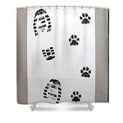 Footprints- Friends Shower Curtain