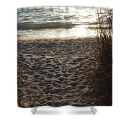 Footprints In The Dunes Shower Curtain