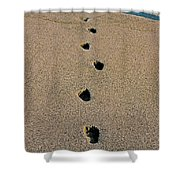 Footprints In The Sand ... Shower Curtain