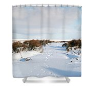 Footprints In The Snow Iv Shower Curtain