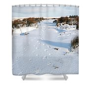 Footprints In The Snow V Shower Curtain