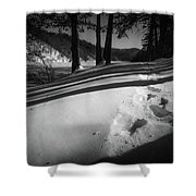 Footprints Shower Curtain