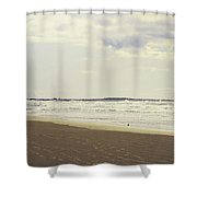 Footprints On The Shore Shower Curtain