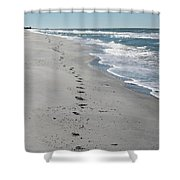Footsprints In The Sand Shower Curtain