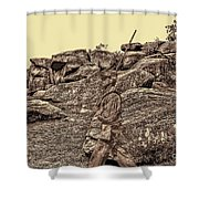 For Ever Watch At Devils Den Shower Curtain by Tommy Anderson