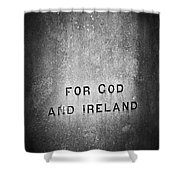 For God And Ireland Macroom Ireland Shower Curtain