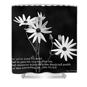 For God So Loved Black-eyed Susan Flower Shower Curtain