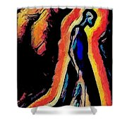 For I Walk Alone Shower Curtain