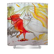 For Ravens Of The Apocalypse Shower Curtain