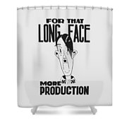 For That Long Face - More Production Shower Curtain