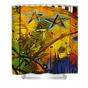 for the benefit of mr. Kite Shower Curtain