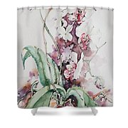 For The Love Of Orchids Shower Curtain