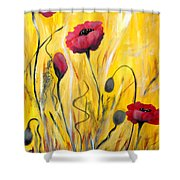 For The Love Of Poppies Shower Curtain