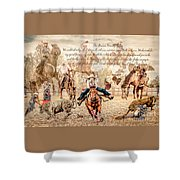 For The Love Of Rodeo Shower Curtain