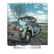 For Whom The Truck Tows Shower Curtain