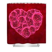 For You, For Love Shower Curtain
