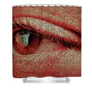 For Your Eyes Only Shower Curtain