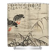 Foraging In The Wild Goose River Shower Curtain