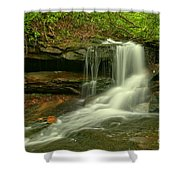 Forbes State Forest Cole Run Cave Falls Shower Curtain