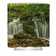 Forbes State Forest Twin Falls Shower Curtain