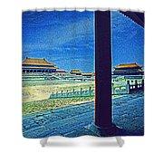 Forbidden City Porch Shower Curtain