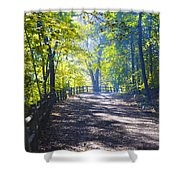 Forbidden Drive - Philadelphia Shower Curtain