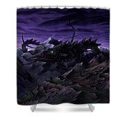 Forbidden Land Of The Beasts Descent Shower Curtain