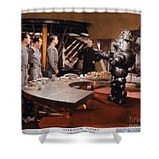 Forbidden Planet Amazing Poster Inside With Scientist Shower Curtain