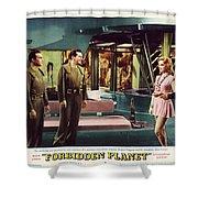 Forbidden Planet In Cinemascope Retro Classic Movie Poster Indoors Shower Curtain