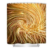 Force Field Variation 1 Shower Curtain