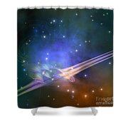 Force Lines Shower Curtain