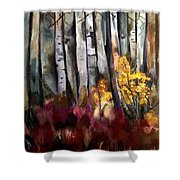 Forced Forsythia Shower Curtain