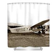 Ford 4-at-a Maddux Air Lines Los Angeles Circa 1928 Shower Curtain