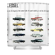 Ford Auto/edsel Ad, 1957 Shower Curtain