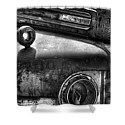 Ford Broken Headlamp Shower Curtain