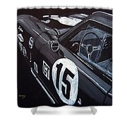 Ford Cobra Racing Coupe Shower Curtain