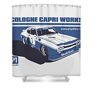 Ford Cologne Capri Works Shower Curtain