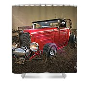 Ford Coupe Cartoon Photo Abstract Shower Curtain